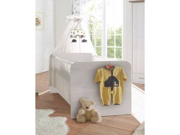 Babybett LUBA Pinie weiß 70x140 cm