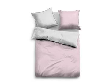 TOM TAILOR Satinbettwäsche 135x200+80x80, grau-rosa