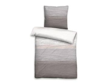 BIBERNA Biber-Komfort Bettwäsche 135x200+80x80, grau