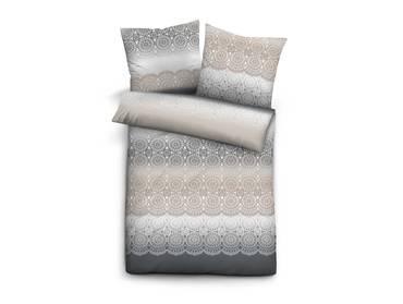 biberna melange flanell uni bettw sche 135x200 80x80 grau. Black Bedroom Furniture Sets. Home Design Ideas