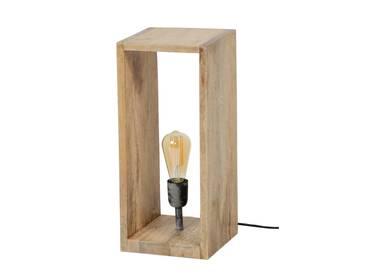 BERNAU Tischlampe groß aus Holzquader