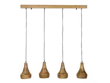 LEUNA Hängelampe mit 4 Holzschirmen