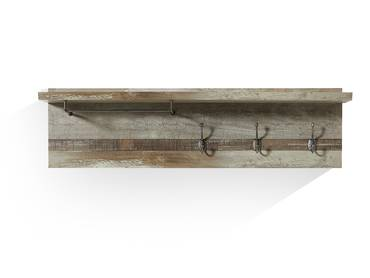BALI Garderobenpaneel Driftwood Nachbildung MDF