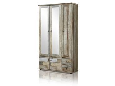 BALI Garderobenschrank 3trg Driftwood Nachbildung MDF