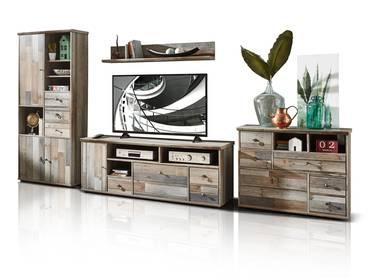 BALI II Wohnwand Driftwood Nachbildung MDF