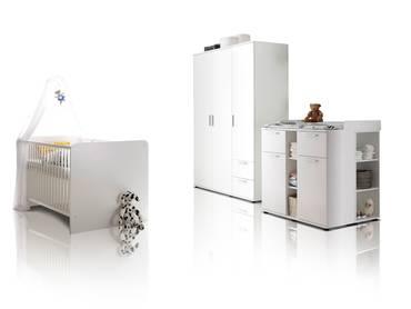 BAMBINO Babyzimmer 3tlg weiß