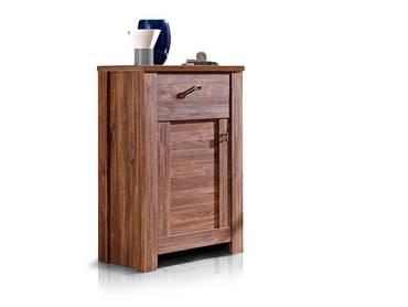 bern schuhschrank mit 2 t ren akazie dunkel. Black Bedroom Furniture Sets. Home Design Ideas