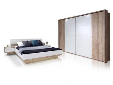 CARLA Schlafzimmer Eiche/weiß