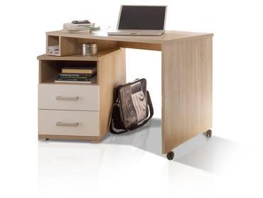 CASSIAN Schreibtisch Eiche Sonoma/weiß