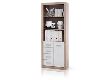 CHESTER Büroschrank/Regal B9 San Remo/weiß