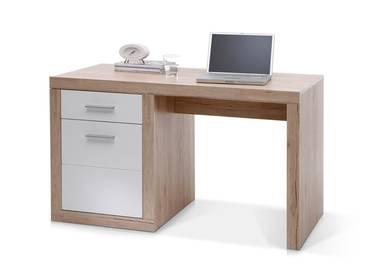 CHESTER Schreibtisch klein San Remo/weiß