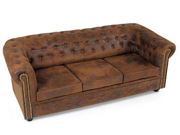 CHESTERFIELD 3er Sofa Gobi braun