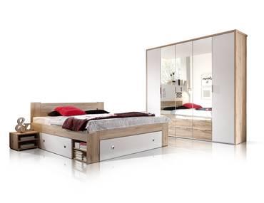 CONNY Komplett-Schlafzimmer Eiche San Remo/weiss