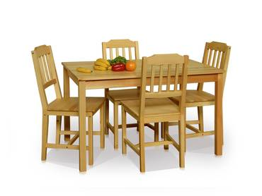 DINING Esstischgruppe/Dining Set Pine wood