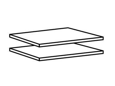 Einlegeböden 2 Stück 110x2x50 cm