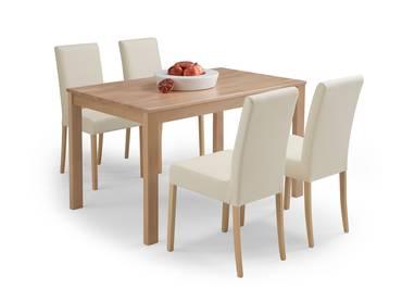 ESSGRUPPE Tisch EMANUELA + Stühle FADI Beige