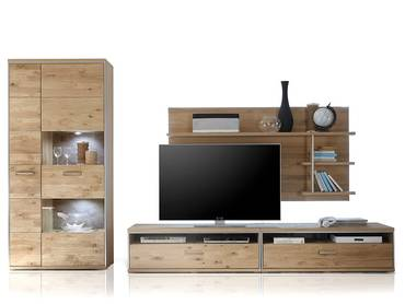 felipa i wohnwand wei eiche hirnholz. Black Bedroom Furniture Sets. Home Design Ideas
