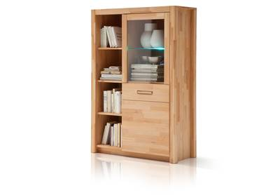 FANJA Kombi Highboard Massivholz Kernbuche massiv
