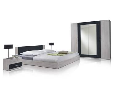 Komplett-Schlafzimmer: Schrank, Bettgestell, Nachtkommode – günstig ...