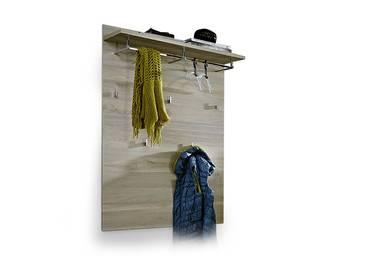 FUADA Garderobenpaneel weiss/Silbereiche