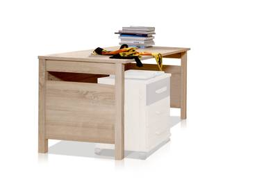 GARRY Schreibtisch Eiche Sägerau