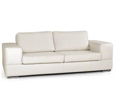 GENTA 3er Sofa creme weiss