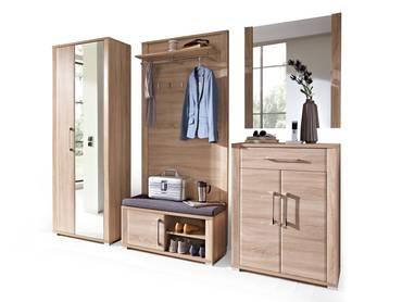 finn garderobenschrank schuhschrank dielenschrank sonoma eiche hell. Black Bedroom Furniture Sets. Home Design Ideas