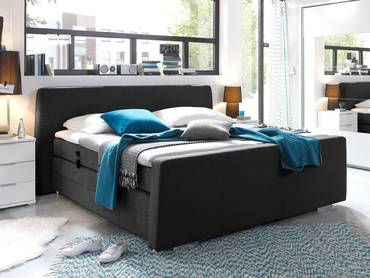 cool sitztruhe mit stoffbezug oslo schwarz. Black Bedroom Furniture Sets. Home Design Ideas