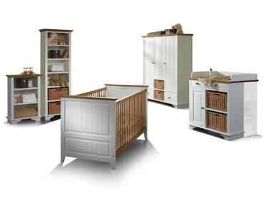 JAMIE Kinderzimmer Kiefer massiv/weiß gewachst