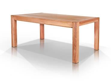 KANADA Massivholzesstisch mit 3 Einlegeplatten