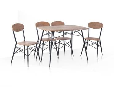 LARA Essgruppe 4 Stühle + 1 Tisch