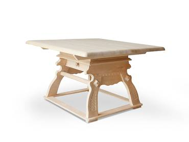 LAURO Tisch 120x120 Fichte mit Schubfach