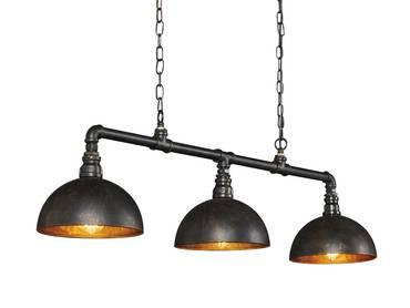 LEONIE Hängelampe 3 Lampen Halbkugel-Lampenschirm