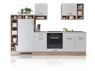 MADELINE Küche Dekor Weiß matt/Eiche San Remo Dekor