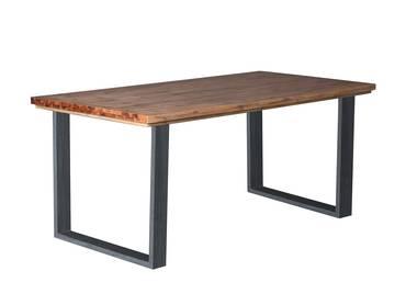MALAGA Esstisch, Material Massivholz, Akazie gebürstet 160 x 90 cm | Akazie natur