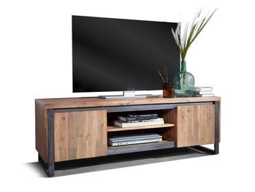 MALAGA TV-Lowboard I, Material Massivholz, Akazie gebürstet Akazie natur