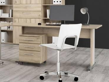 MARAUN Schreibtisch Eiche Bianco