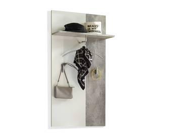 MARIC Garderobenpaneel betongrau/weiß