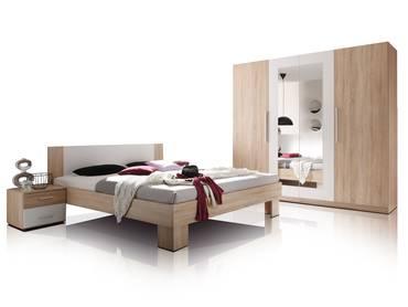 martina doppelbett inkl 2 nachttische eiche sonoma wei. Black Bedroom Furniture Sets. Home Design Ideas