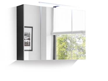 may h ngeschrank klein grau wei. Black Bedroom Furniture Sets. Home Design Ideas