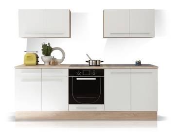 MIRA Küchenblock weiß/Eiche sonoma