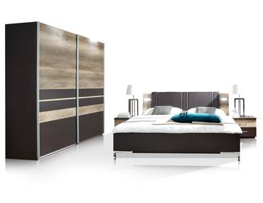 komplett schlafzimmer schrank bettgestell nachtkommode g nstig bestellen. Black Bedroom Furniture Sets. Home Design Ideas