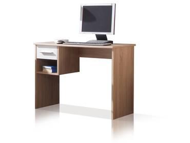 NENA Schreibtisch Eiche Sonoma/Weiß