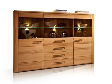 NESTOR PLUS Highboard Kernbuche lackiert teilmassiv