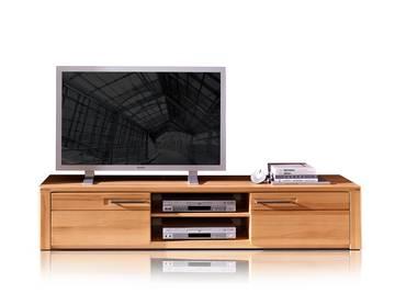 NESTOR PLUS TV-Unterteil 2 Schubkästen+2 Fächer Kernbuche lackiert