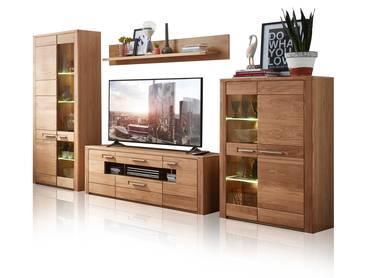 felipa i wohnwand wei eiche hirnholz. Black Bedroom Furniture Sets. Home Design Ideas