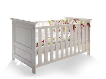 ODETTE Babybett Kiefer Massivholz/weiß gewachst