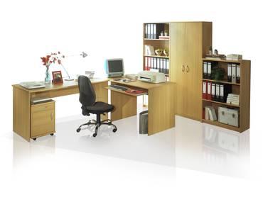 OFFICE COMPACT Heimbüro 5tlg Buche Dekor