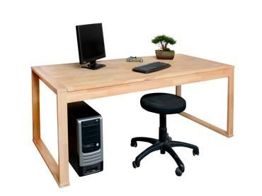 OFFICE FOUR Schreibtisch, Material Teilmassiv Kernbuche teilmassiv