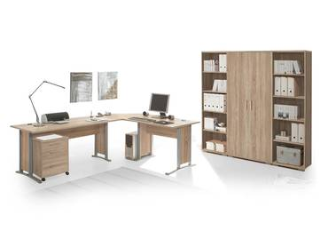 office line heimb ro i 9tlg eiche sonoma. Black Bedroom Furniture Sets. Home Design Ideas